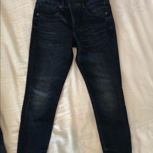 Express Raw hem mid rise skinny jeans